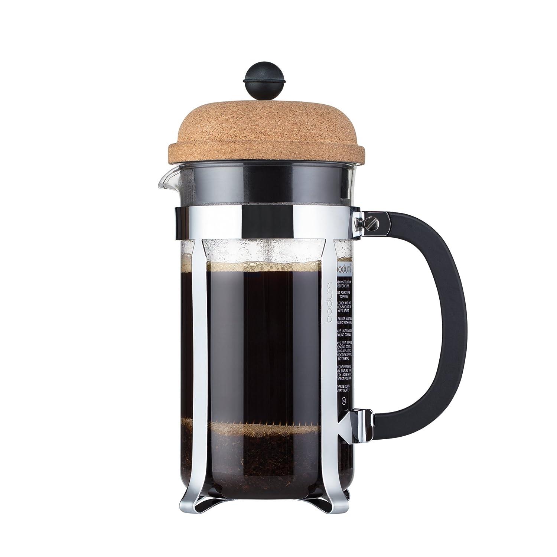 Bodum Chambord Kaffeebereiter 8 Tassen, Glas, Transparent/Kork, 10.6 cm 1928-109S