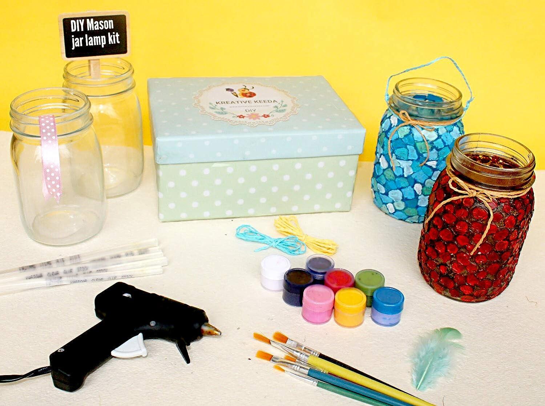 Buy Diy Mason Jar Lamp Kit Make Your Own Personalised Lamp