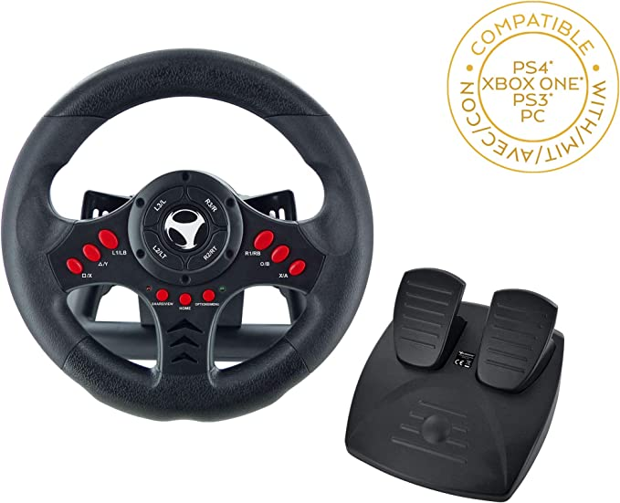 Subsonic - Volant Racing Wheel Universal avec pédalier pour Playstation 4 - PS4 Slim - PS4 Pro - Xbox One - Xbox one S - PS3 [Importación francesa]: Amazon.es: Videojuegos