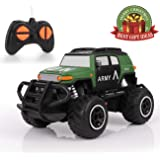 RC Cars for Kids, HALOFUN Mini Remote Control Car 1:43 Scale UN ARMY Vehicle Sport Racing Hobby Christmas Gift for Boys Girls (Dark Green)