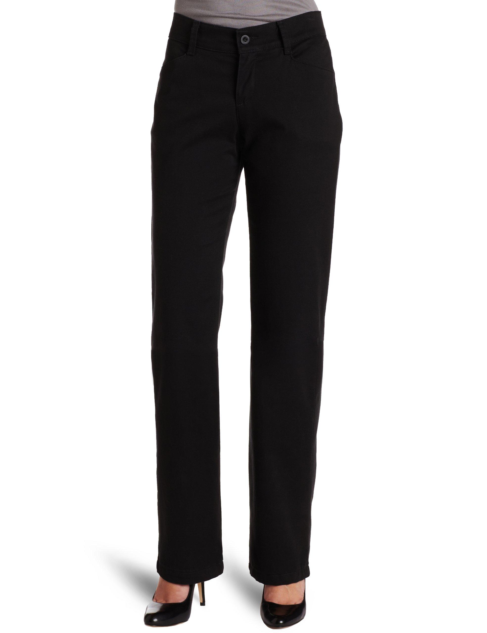 Lee Women's Petite Relaxed Fit Plain Front Straight Leg Pant