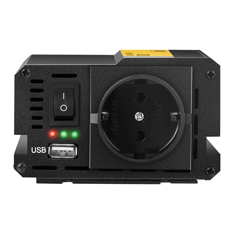 MSW Spannungswandler Wechselrichter Stromwandler MSW-CPI-380MS 380 W, DC 12 V zu AC 230 V, modifizierte Sinuswelle inklusive Kfz-Adapterstecker
