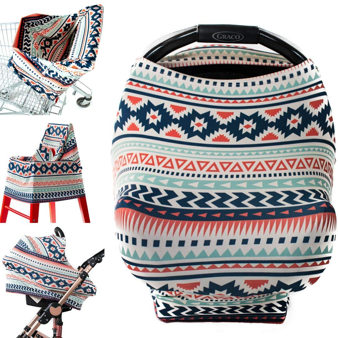 Breastfeeding Cover Stroller Sunshade Shopping Cart Cover Baby Car Seat Canopy Aztec by Ermis Carseat Covers for Girls and Boys Nursing Cover Scarf