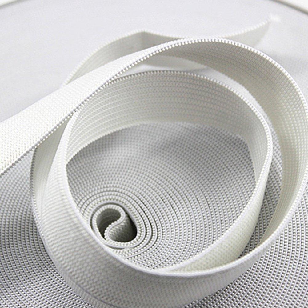 Dytiying di 4/cm larghezza 10/m elastico poliestere fascia corda cucito bande piatto maglia elastica con elevata elasticit/à 1 pezzo White
