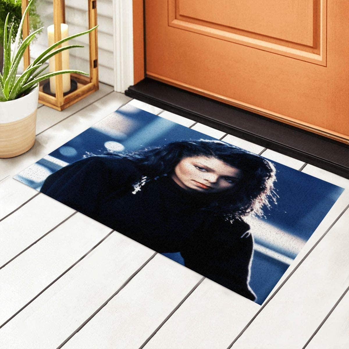 Meimall Janet Jackson Doormat Indoor Absorbent Entrance Rug Entryway Welcome Mats for Shoe Scraper for Kitchen Welcome Mat Outside High Traffic Area 15.7 by 23.6 Inc
