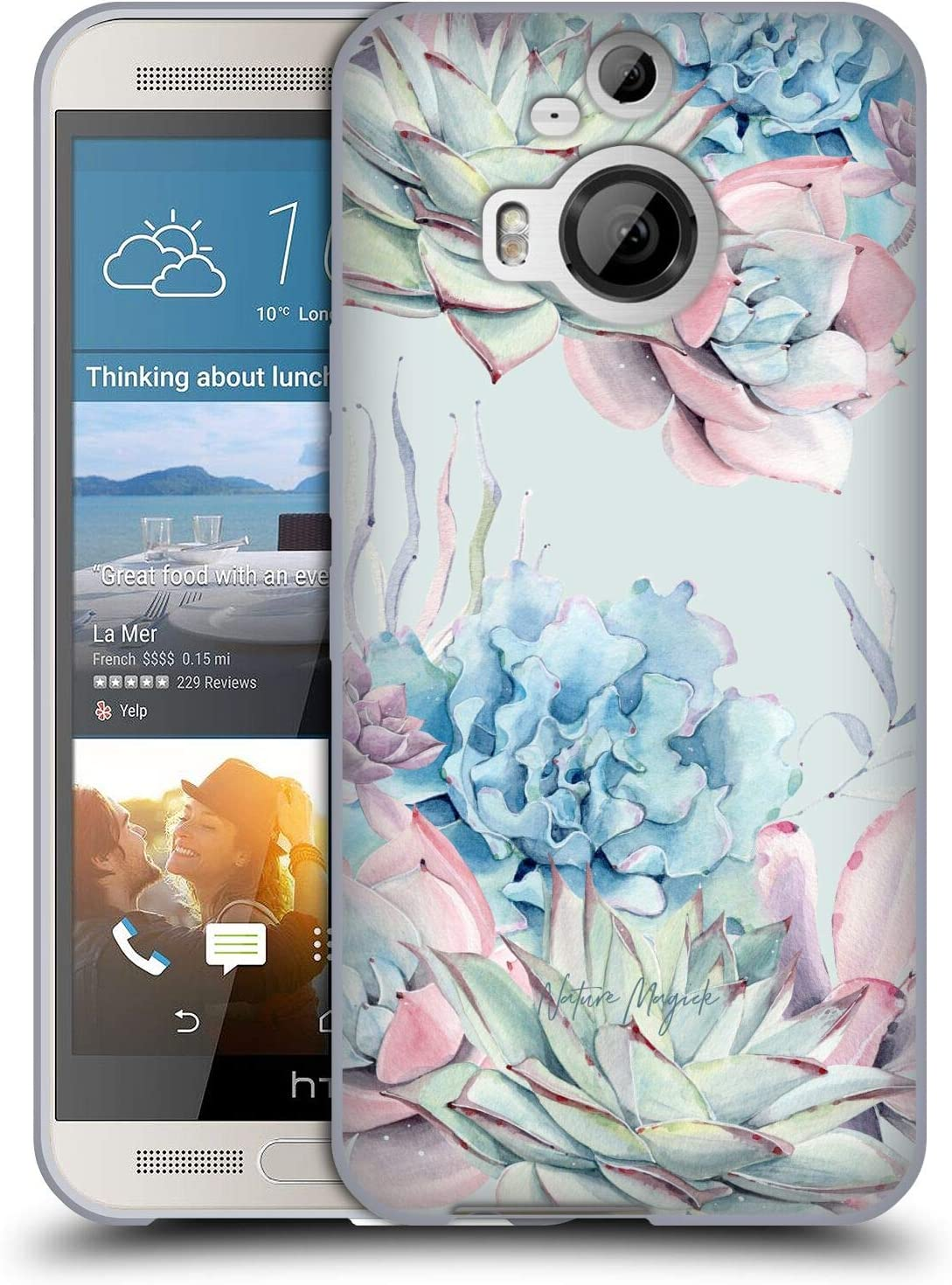 Head Case Designs Officially Licensed Nature Magick Desert Flowers Green Succulents Watercolor Soft Gel Case Compatible with HTC One M9+