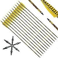 "Narchery Tiro con Arco Flechas y saetas, 31"" Pulgadas Arcos y Flechas para Caza o práctica, Incluye Flechas reemplazos…"