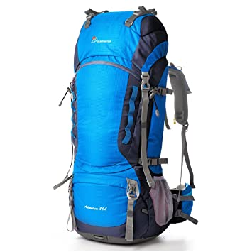 Amazon.com : Mountaintop 80l Hiking Backpack Harbor Blue : Sports ...
