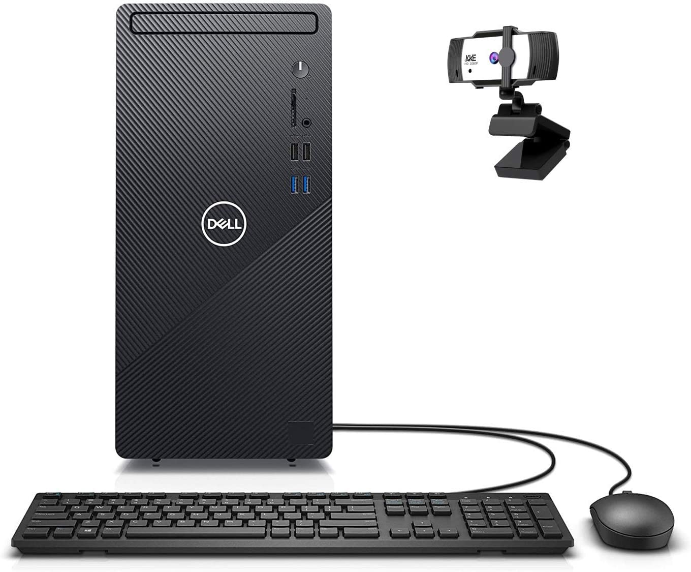 Dell Newest Inspiron High Performance Desktop, Intel Core i7-10700, 32GB DDR4 Memory, 1TB PCIe Solid State Drive, WiFi, HDMI, Wired Keyboard&Mouse, KKE 1080P Webcam, Windows 10