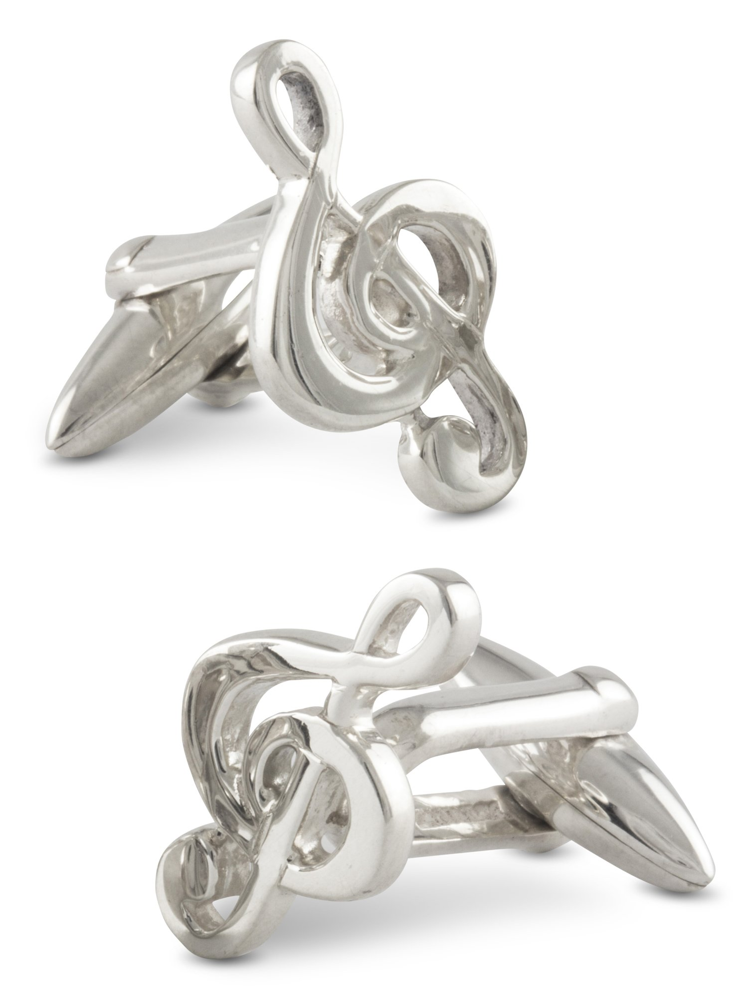 ZAUNICK Treble Clef Cufflinks Sterling Silver