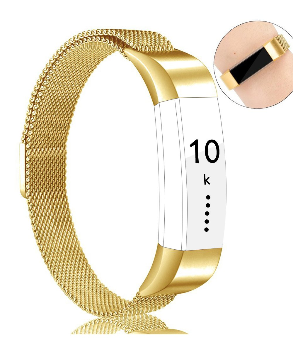 Pour Fitbit Alta HR et Fitbit Alta Bracelet, Réglable en Acier Inoxydable Milanaise Bracelet de Rechange avec Fermoir Fermeture Magnétique product image