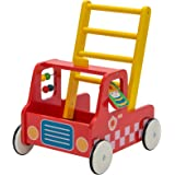 Red Aircraft Wooden Baby Push Walker - 2-in-1 Toddler Push & Pull Toys Learning Walker Stroller Walker with Wheels for…