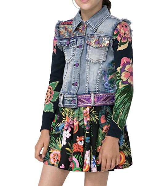 Desigual - Abrigo - para niña DENIM LIGHT WASH: Amazon.es: Ropa y accesorios