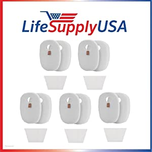 LifeSupplyUSA Foam and Felt Filter Kits (5) fit Shark Rocket Deluxe Pro, TruePet, HV320 & HV319Q Model Vacuum Cleaners Part #s 1080FTV320 & 1084FTV320 (5 Sets)