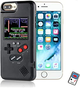 YLANK Gameboy Case for iPhone, Retro 3D Gameboy Design Style Silicone Cover Case with 36 Classic Retro Games,Color Screen Game Cover Case for iPhone IPHONE6/6S/7/8 4.7inch(Black, IPHONE6/6S/7/8)