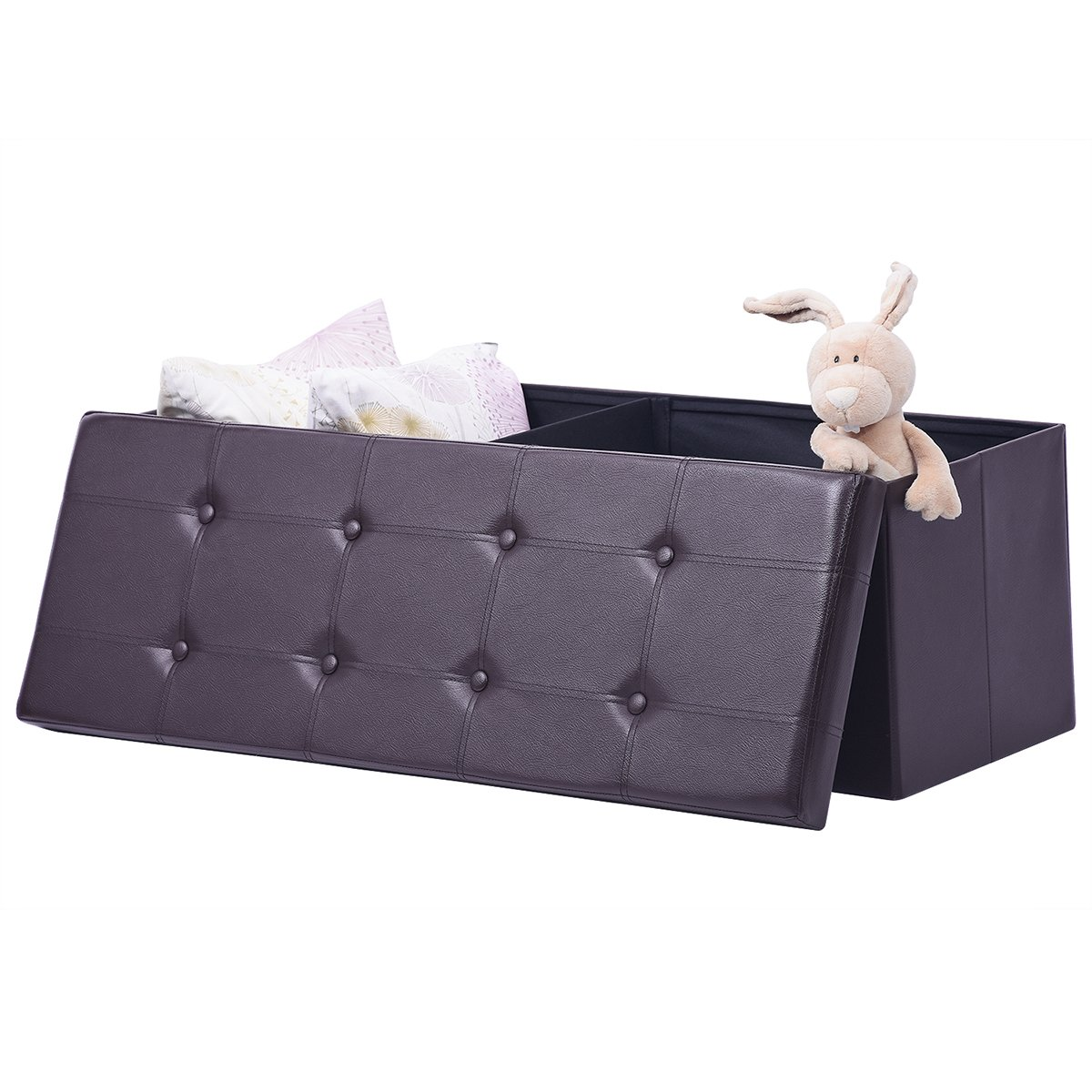 Excellent Details About Ulikit Xl Faux Leather Folding Storage Ottoman Bench Storage Chest Footrest Cjindustries Chair Design For Home Cjindustriesco