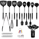 SemiShare 17pcs Silicone Kitchen Utensil Set for Cooking,Scratch and Heat Resistant,Non-Stick,BPA-Free Silicone Stainless Ste