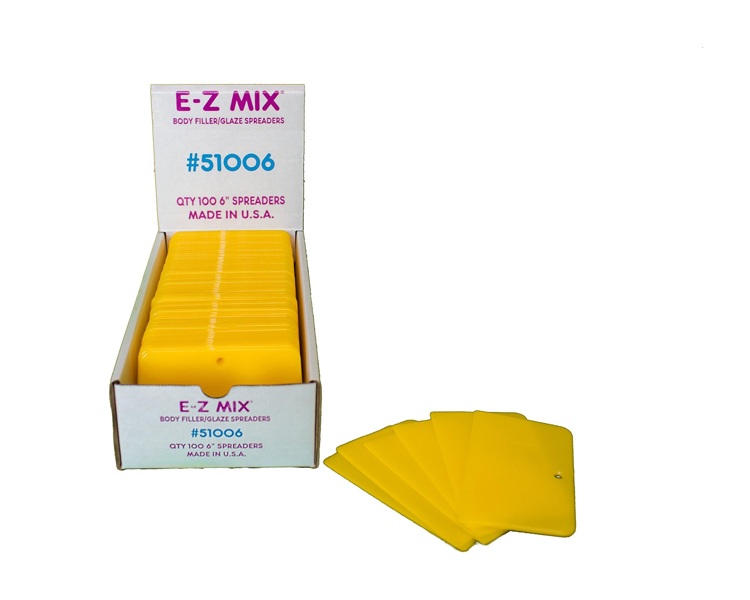 E-Z Mix 51006 6'' Body Filler/Glaze Spreader 100 Pack by E-Z Mix (Image #2)