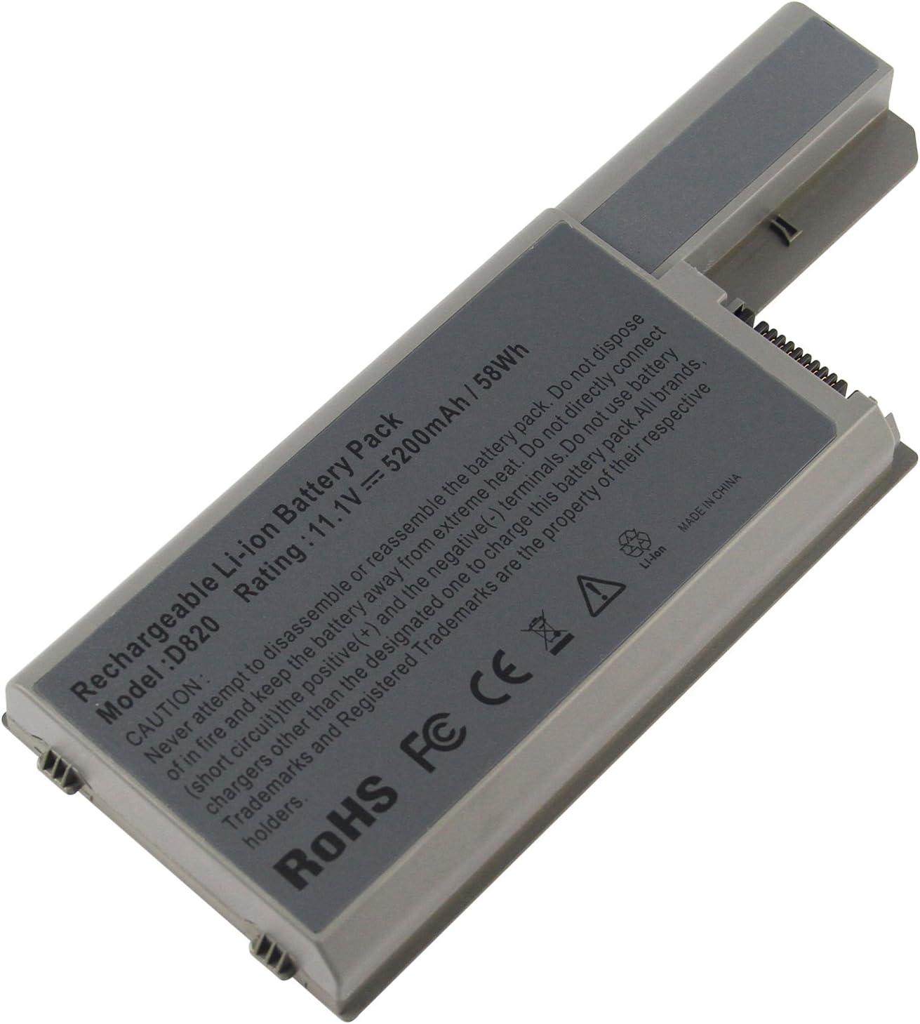 Futurebatt Laptop Battery for Dell Latitude D820 D830 D531 D531N Precision M65 M4300, fits 310-9122/310-9123/312-0393/312-0394/312-0401/312-0402/312-0537/312-0538/451-10308