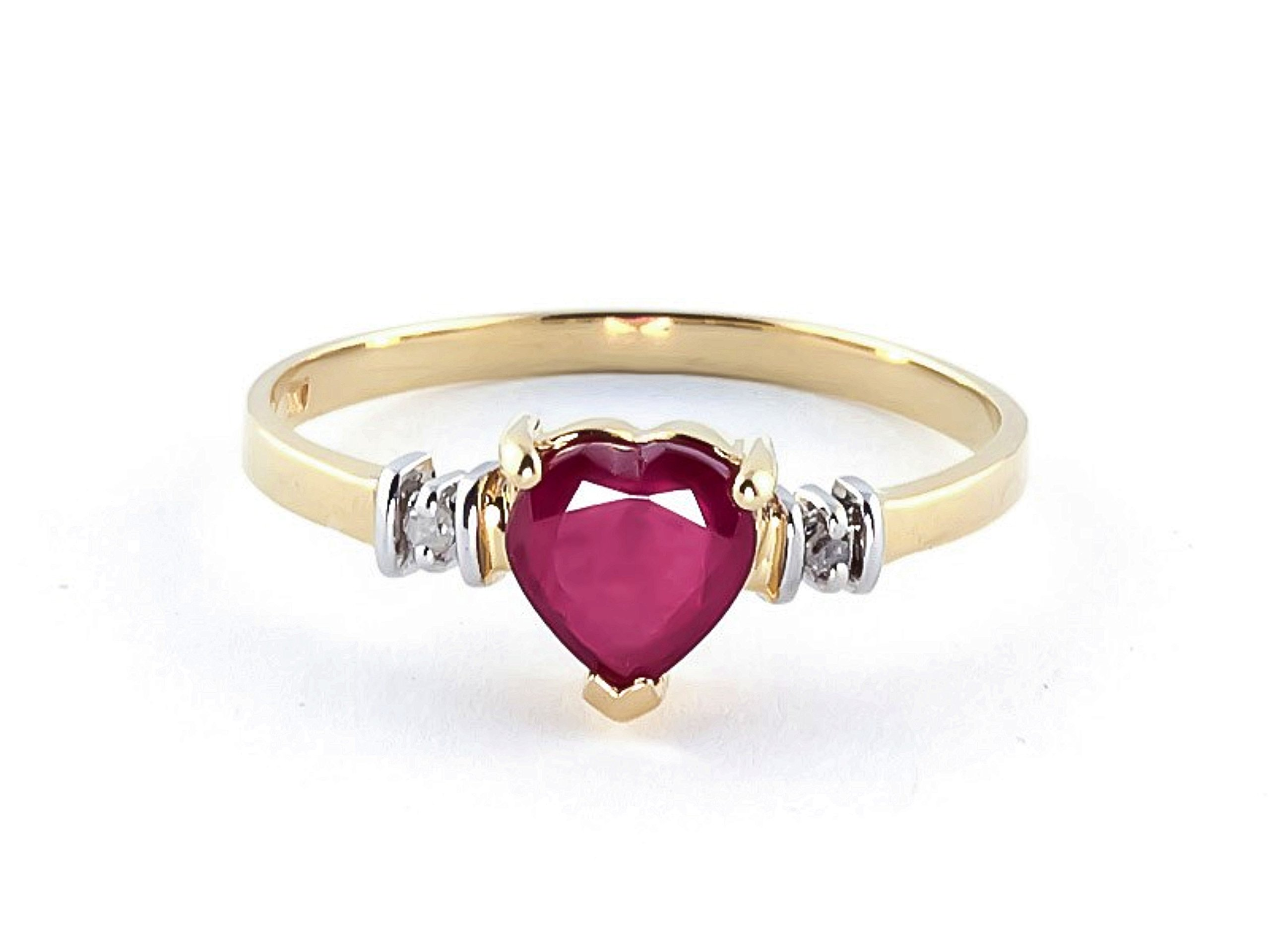 1.03 Carat 18K Solid Yellow Gold Ring Natural Ruby Diamond 4345Y-18k (7)