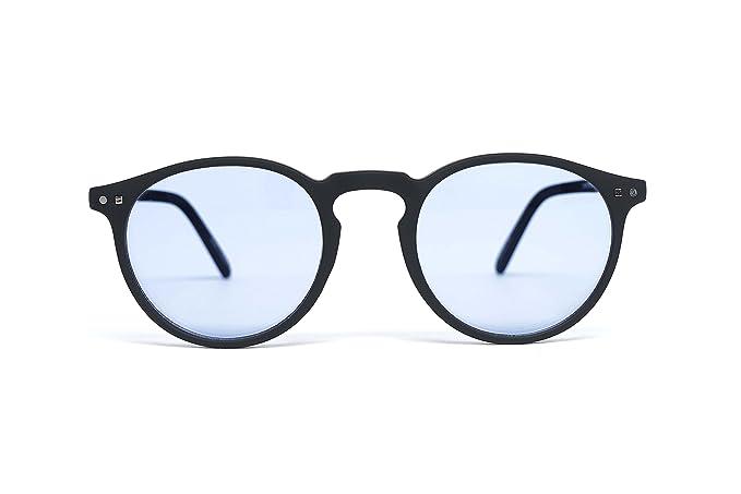 FEEGOO Lunettes de Soleil pour Homme Femme Unisex Forme Ronde Noir 100%  UV400 Verres 46aabd68583d