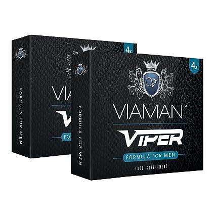 Viaman Viper- 8 unidades | Pastillas para la erección | Evita la eyaculación precoz y