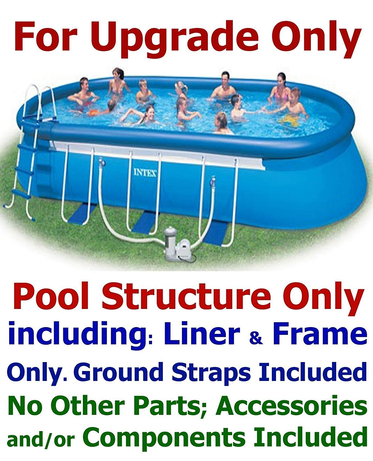 Intex 24' x 12' x 48'' Oval Ellipse Easy Frame Pool Set - Filter Pump & Hoses Not Included by Intex (Image #2)