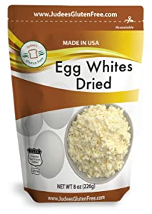 Judee's Dried Egg White Protein 8 oz - Baking, Meringue, Royal Icing, Smoothies. 4g Protein per Serving, Non GMO, USA Made, USDA Certified, Made from Freshest of Eggs (45 lb Bulk Size Available)