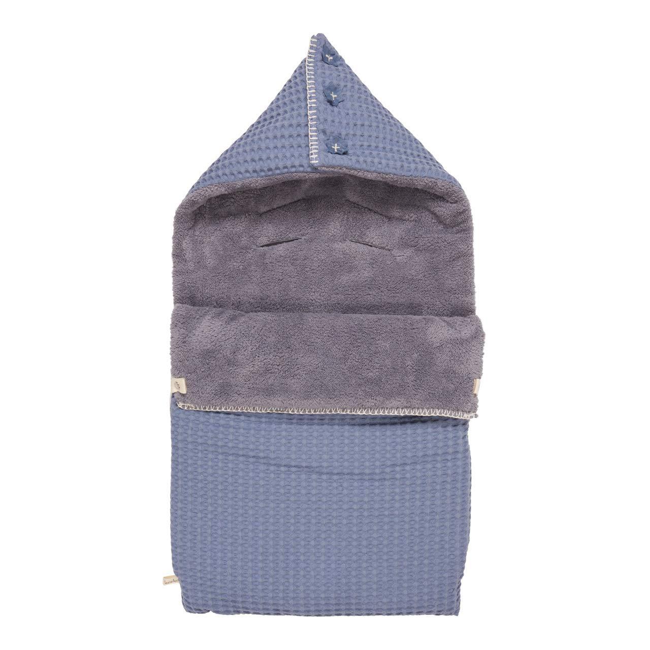 Koeka Fu/ßsack Pl/üsch 3-punktegurt Oslo Stormy Blue//steel Grey