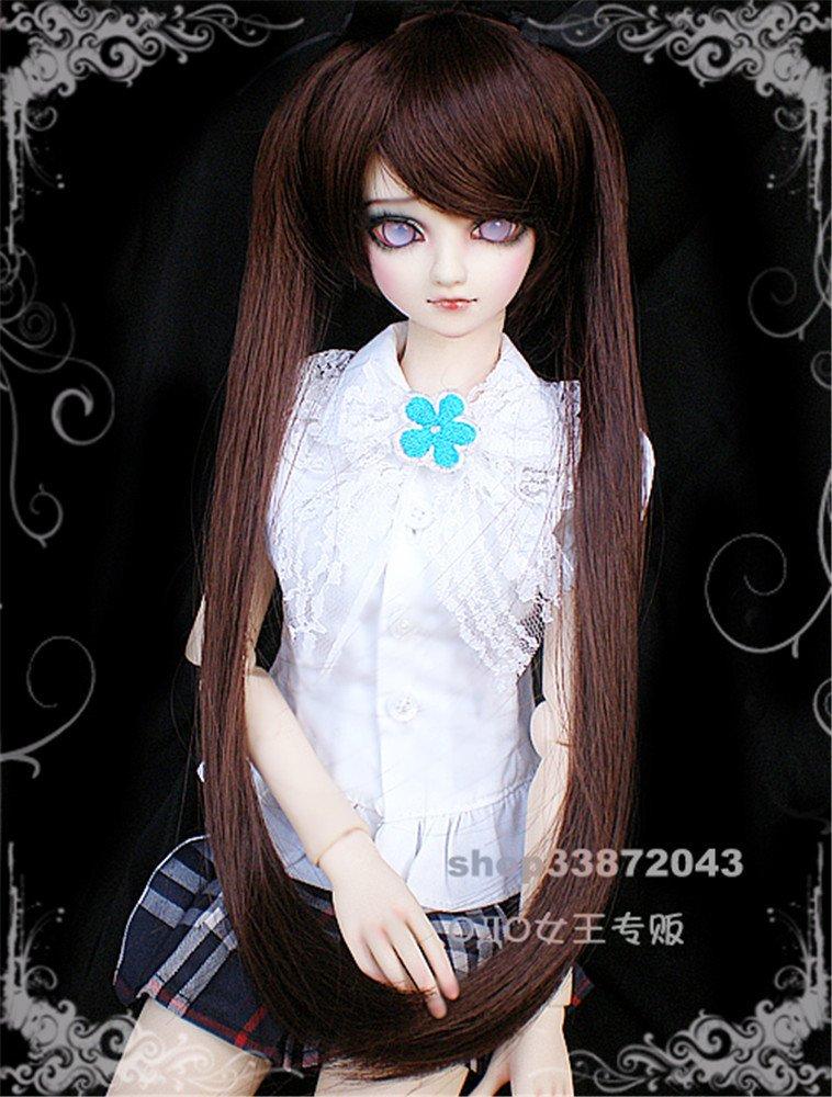 Tita-Doremi Peluca BJD SD MSD Minifee MDD DZ DOD LUTS Dollfie Brown Wig Hair 1/4 7-8 inch 18-19cm (Peluca solamente, no una muñeca) : Amazon.es: Juguetes y ...