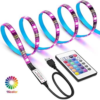 Tiras LED USB de 2 metros con Colores RGB, Para TV Entre 40 y 60 ...