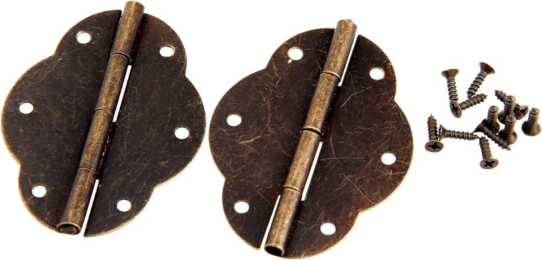 Ottone antico farfalla cerniera porta cerniere cerniere bambole per cassetto credenza armadietto scatola di legno Grande