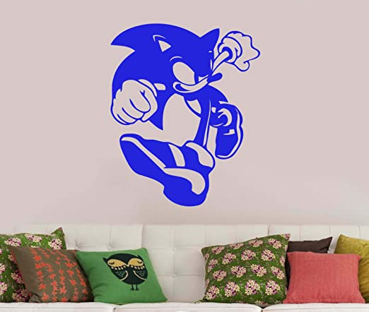 Amazon Com Sonic The Hedgehog Wall Vinyl Sticker Vinyl Decal Comic Book Art Best Decorations For Home Kids Boys Room Playroom Bedroom Video Game Decor Made In Usa Fast Delivery Home Kitchen