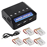 XCSOURCE 5 pcs 3.7V 720mAh Lipo Battery + Charger For Syma X5C X5A X5SC X5SW Parts RC Quadcopter BC538
