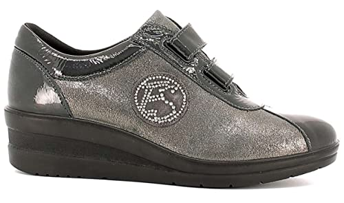 ENVAL SOFT 89830 mocassini scarpe donna nero lucido comfort strass memory  foam  Amazon.it  Scarpe e borse 69a9397b5a2