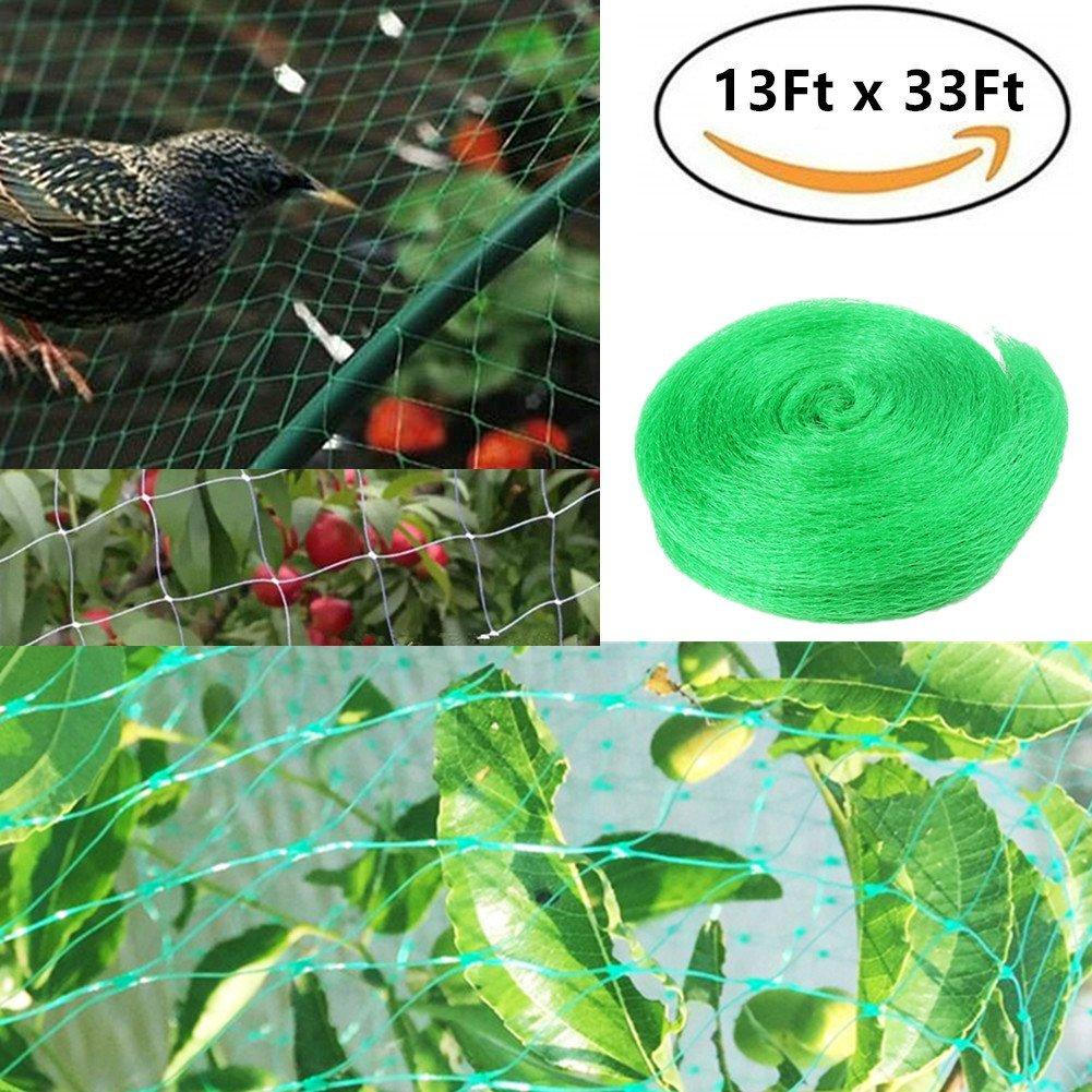 UPREDO 13Ft x 33Ft Anti Bird Protection Polyethylene Netting Barrier Garden Netting Plants Vegetables Fruit Seedlings Protect Netting