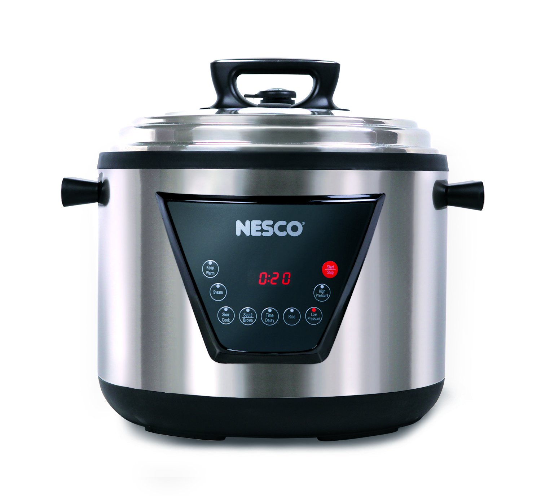 Nesco PC11-25 Pressure Cooker, 11 L, Stainless Steel