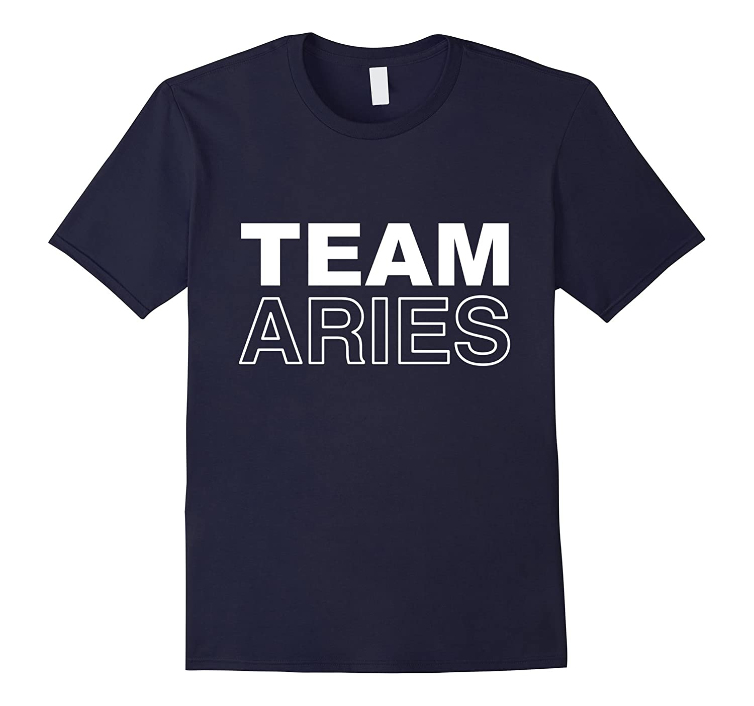 Team Aries T-Shirt Zodiac Horoscope March April Birthday-FL