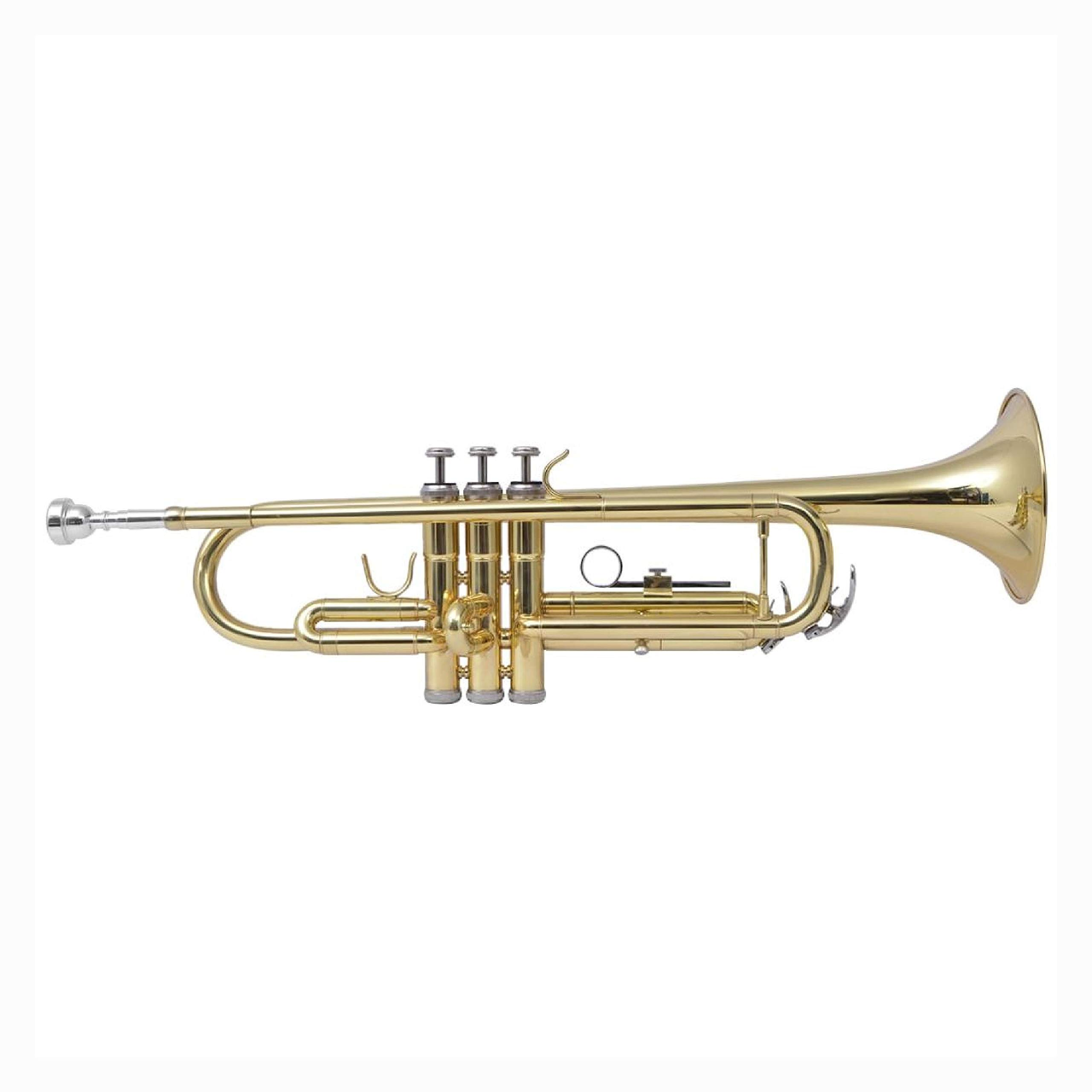 Trumpet & Cornet, Trumpet Yellow Brass with Gold Lacquer Bb