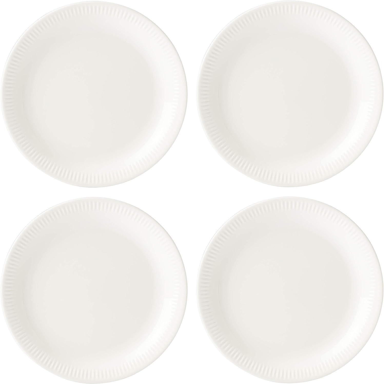 Lenox White Profile Porcelain 4-Piece Dinner Plate Set, 6.75 LB