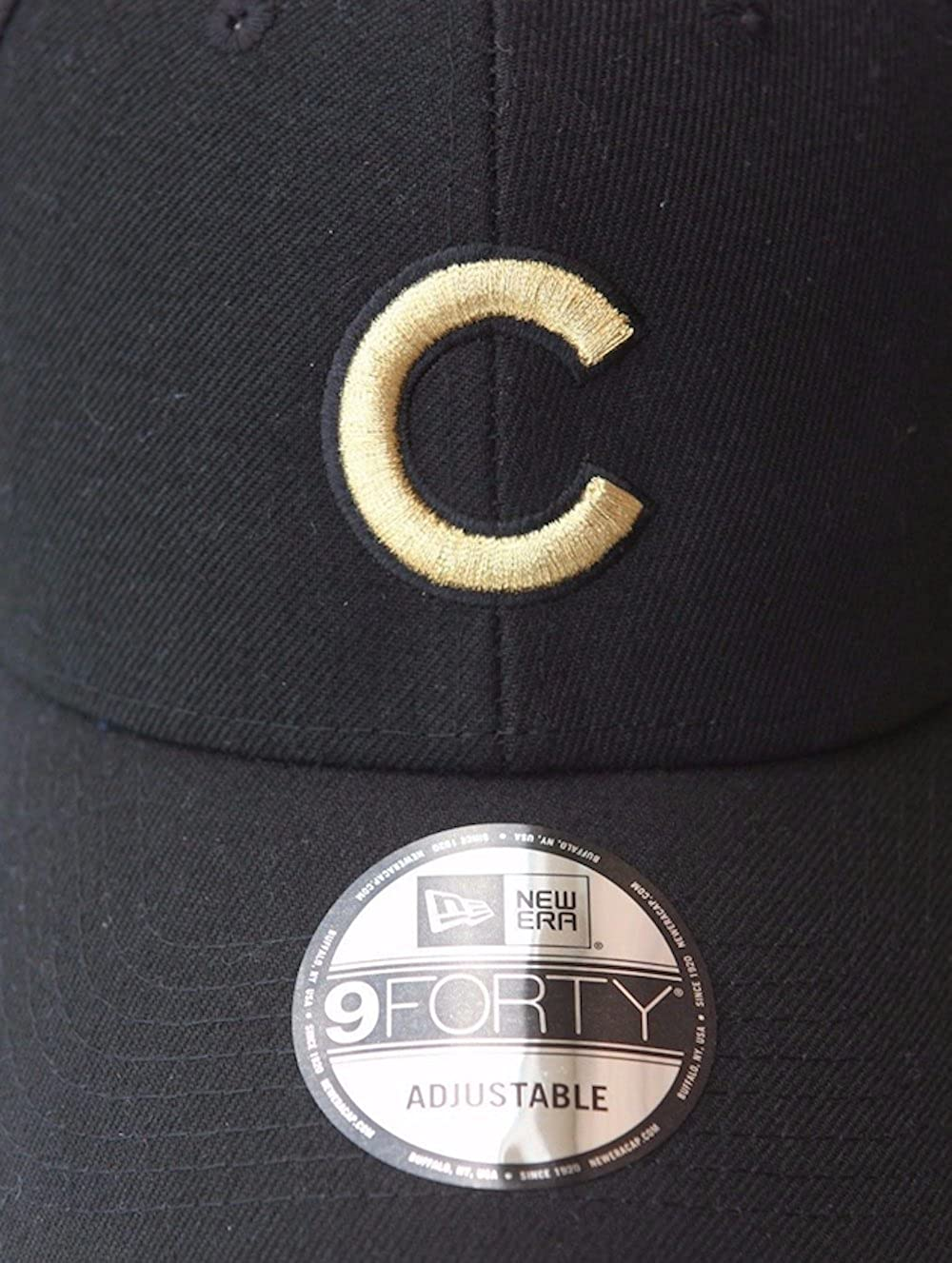f27675931fa Amazon.com  New Era Mens Chicago Cubs 9FORTY Adjustable 2016 World Series  Baseball Hat Black  Clothing