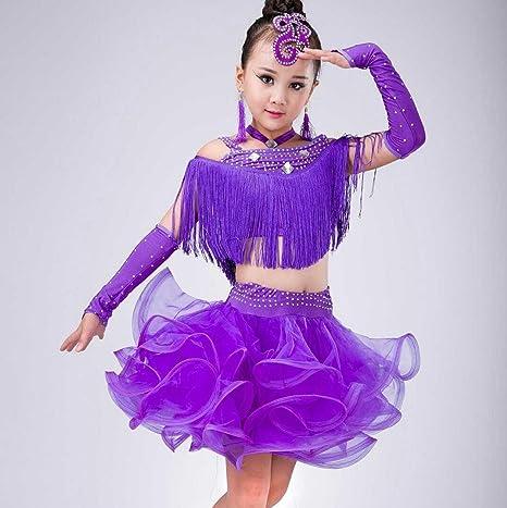 27fd6feb04aa SMACO-Concorso di costumi di danza Costume da Ballo Latino per Bambini  Costume da Ballo