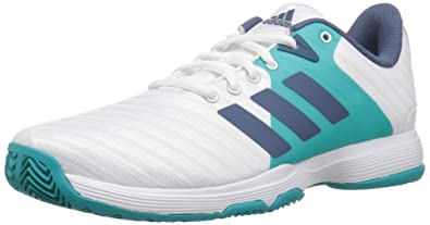 sports shoes 5a02c d8017 adidas Women s Barricade Court Tennis Shoe, White tech Ink hi-res Aqua