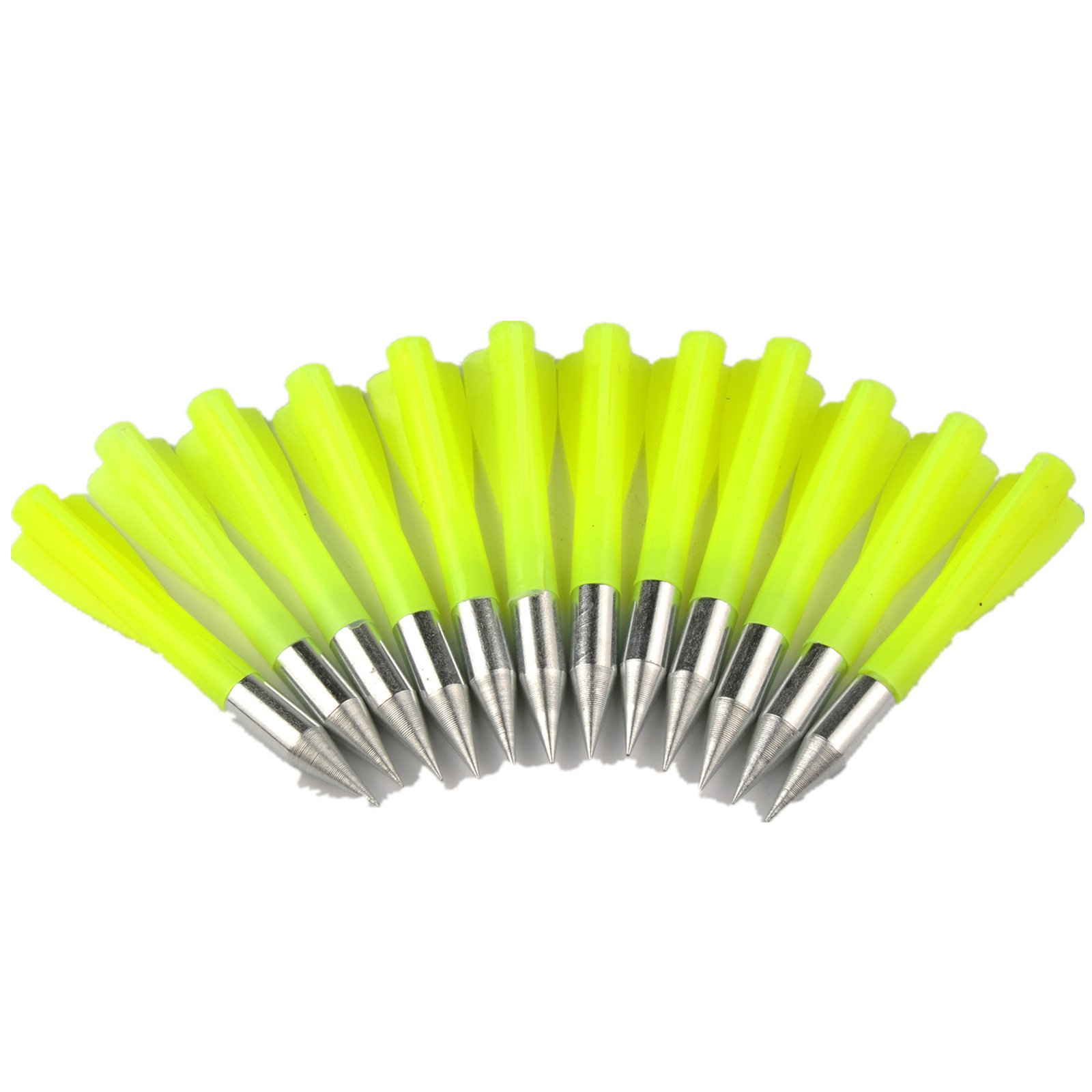 Ruixunte 6.6'' New Metal Crossbow Arrowsbolts for FishingTtargeting Arrows Pack of 12 (Yellow)