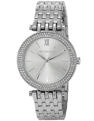 Taylor Cole TC003 - Reloj Mujer de Cuarzo, Correa de Acero Inoxidable Plateado: Amazon.es: Relojes