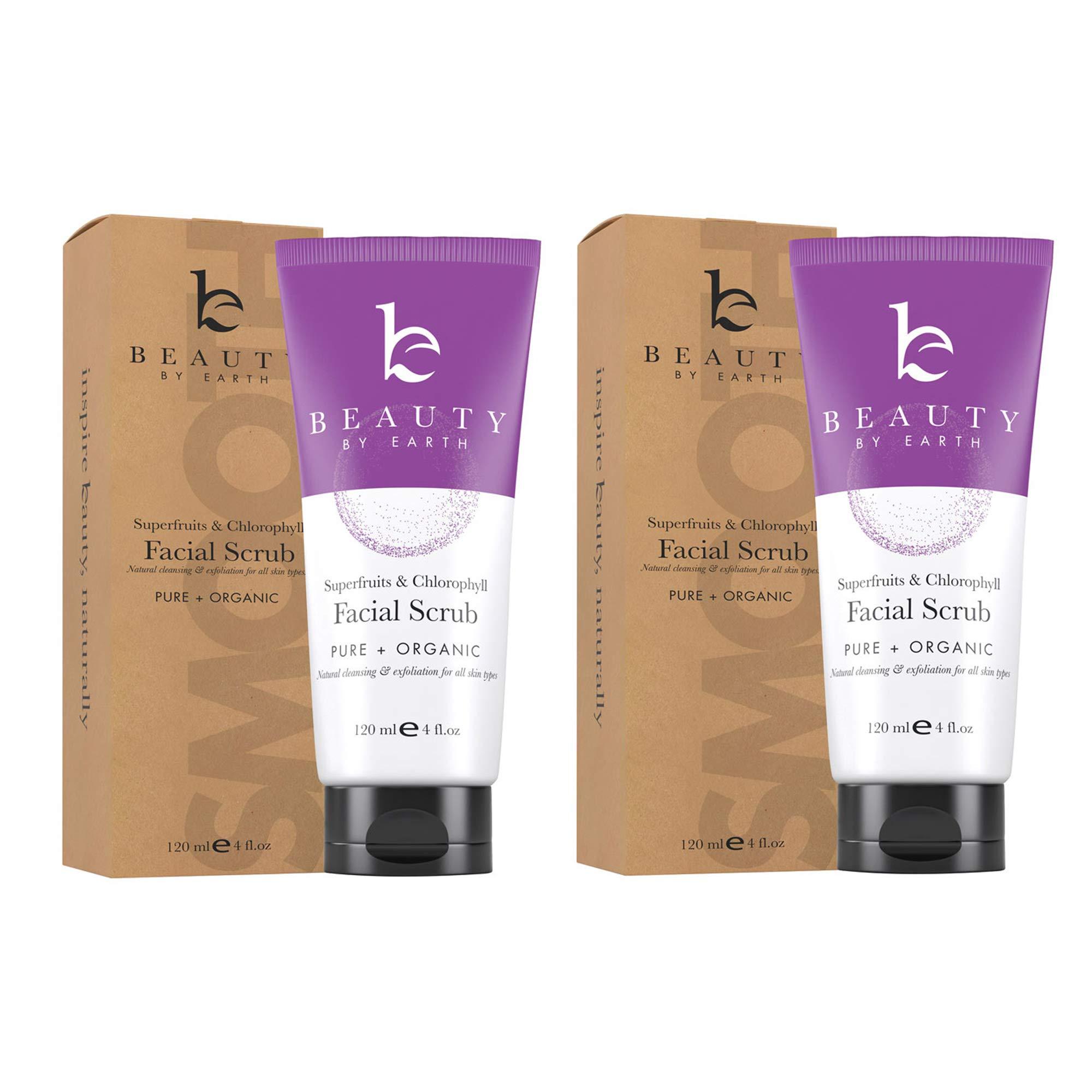 Face Scrub Exfoliating Face Wash - Natural & Organic Face Cleanser and Face Exfoliator for Women & Men, Facial Scrub Microdermabrasion, Exfoliating Face Scrub Vegan Facial Wash Skin Care Products 2pk