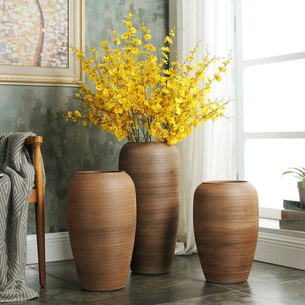 欧州床立つ陶製の花瓶,ホテル リビング ルーム レトロ 花瓶-A B07CQKJ4PB A