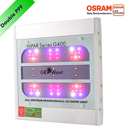 GROWant LED Grow Lights, High PPF OSRAM LEDs, Ultrathin, Full Spectrum with UV and IR, Best for Indoor Plants Veg and Flower, Never Rust Aluminium ...