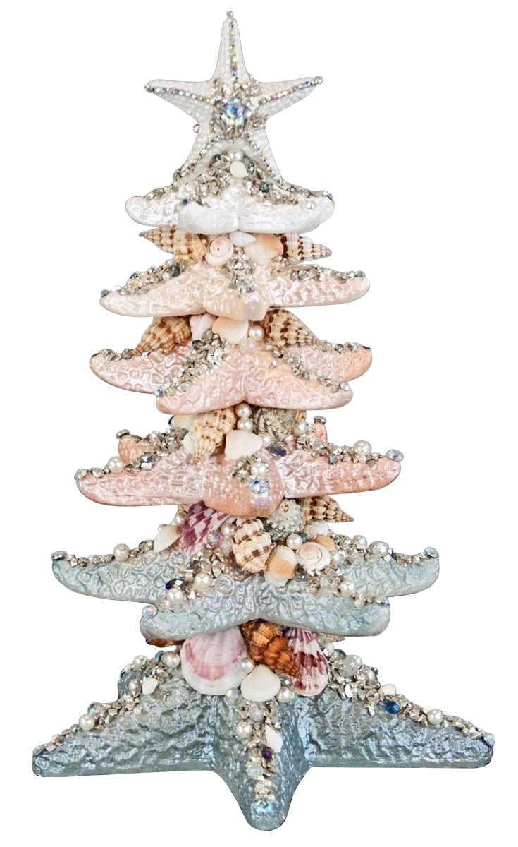 Katherine's Collection Resin Stacked Starfish Tabletop Christmas Tree