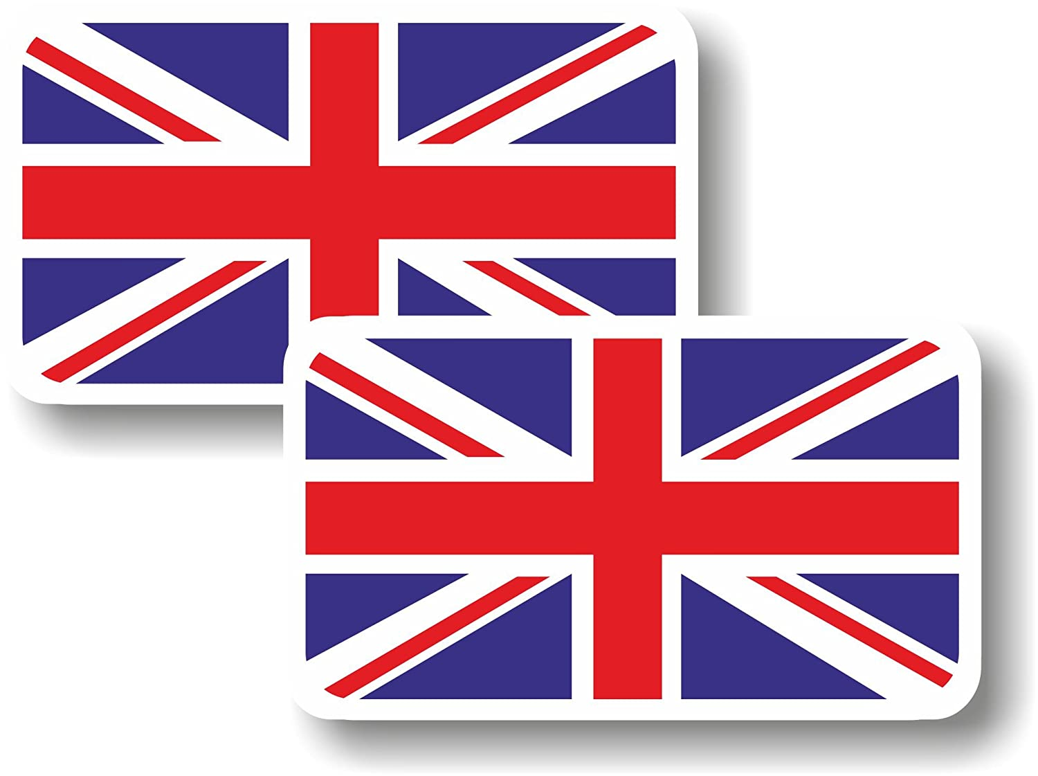 Vinyl sticker/decal Small 70mm Union Jack flag - pair Graphic Effects